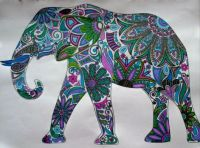 Elephant 2 - coloring book