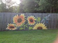 Fence painting 5, by Lori Anselmo Gomez
