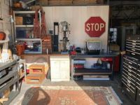My workshop (Paired down from a 2 car garage)