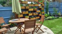 GARDEN IDEAS...BUILD A WALL UNIT OF WOODEN BOX PLANTERS...