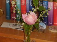 oblíbené knihy s růžičkou