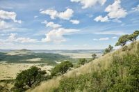 VIEW FROM THE RIM OF CAPULIN VOLCANO