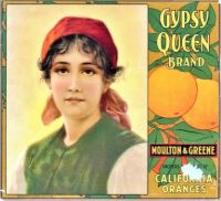 Themes Vintage ads - Gypsy Queen Brand California Oranges