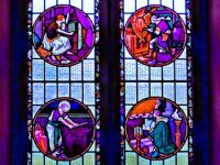 HDR of a window in the Church of St Nicholas, Lincoln - 6th Jun 2007