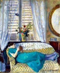 """Henri Lebasque, """"Woman Reading"""""""