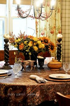 Autumn table decorations