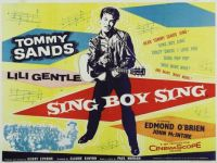 SING BOY SING  -  1956 MOVIE POSTER   TOMMY SANDS
