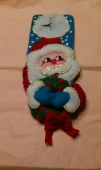 Santa Door knocker hand sewn decoration