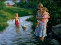 Robert Ducan, Mother with kids