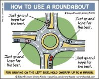 how to use a roundabout
