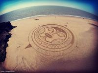 Sand drawing by Jben