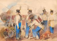 Carl Schindler (Austrian, 1821–1842) Infantry from the Lucerne Regiment