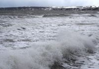 Rough Sea and the Snow