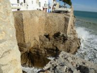 Spain. The old village of Peniscola is built - around a castle - high on the rocks