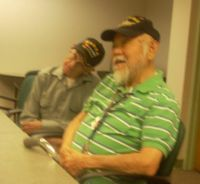 John, Army,Korea and Tom, Navy,  41 years of service.  Tom ia Japanees born in USA.  Family was interred during WWII.