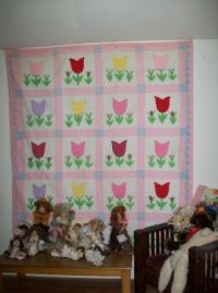Grama and mom quilt done together