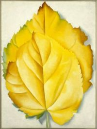 Georgia O'Keeffe (American, 1887-1986)--2 Yellow Leaves (Yellow Leaves), 1928