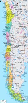 Colorful Map of Chile