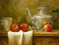 Coffee with three apples