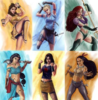 disney princess street fighter