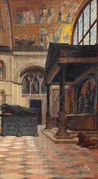 Antonietta Brandeis (Austrian, 1849–1910), The Zen Chapel at the Southeast Corner of St. Mark's Basilica, Venice