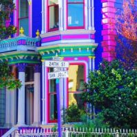 Colorful Victorian, Mission District, San Francisco