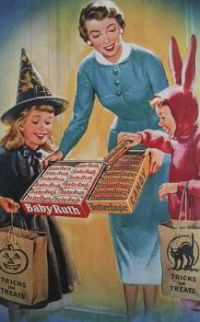 Halloween candy ad