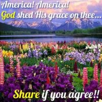 AMERICA...GOD SHED HIS GRACE ON THEE!!!
