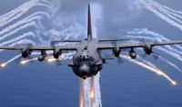 USAF AC-130 Dropping flares