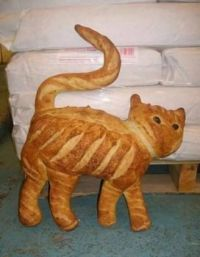Cat shaped bread