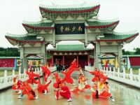 shaolin in front of temple