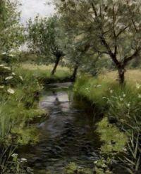 "Hans Andersen Brendekilde, ""A Stream"""