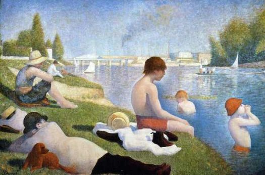 """Bathing at Asnieres""-Georges Seurat"