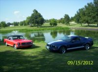 '66 and '06 Mustangs