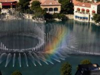 Rainbow in the Fountains of the Bellagio Hotel and Casino in Las Vegas, Nevada