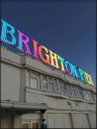 Friday night at Brighton Pier