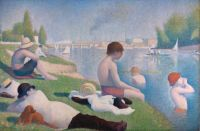 Georges Seurat (French, 1859–1891), Bathers at Asnieres (1884, retouched 1887)