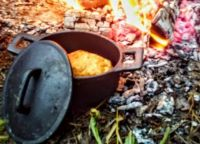 Homemade Cookfire Bread in a Tiny Pot