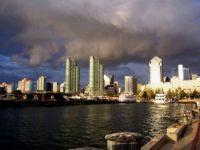 San Diego Downtown Harbor - Last Rays Of Sun