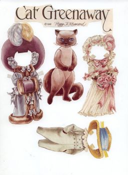 Siamese Cat paper doll