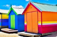 Colorful Brighton Beach.