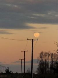moon over end road