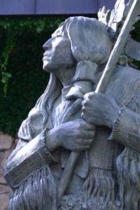 Native American statue / Cody, WY