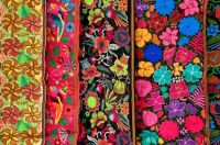 Colorful tapestries in Bucerías, Nayarit, Mexico