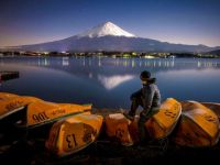 Mount Fuji by Moonlight, Japan