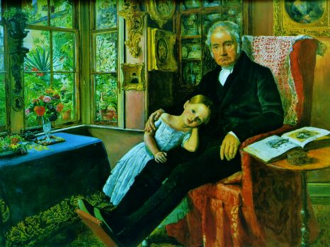 John Everett Millais - James Wyatt and his Granddaughter, Mary