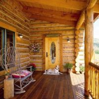 Comfy Log Cabin Front Porch...