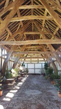 Tithe Barn interior, Arley, Cheshire UK