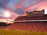 Gorgeous Sunset at an OU game