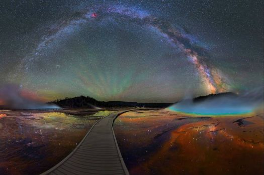 The Milky Way over Yellowstone National Park
